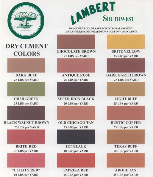 Concrete Color Chart